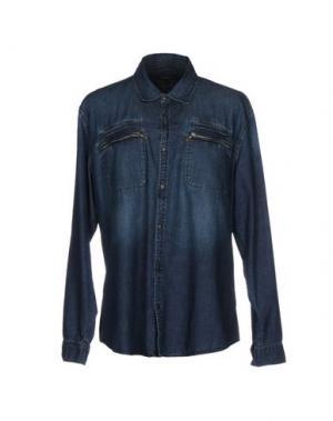Джинсовая рубашка JOHN VARVATOS ★ U.S.A.. Цвет: синий