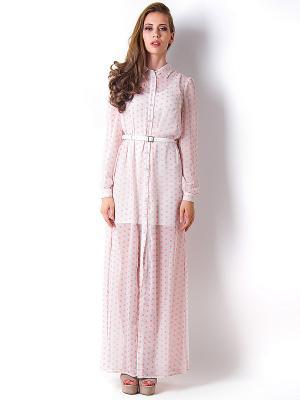Платье Vika Smolyanitskaya. Цвет: молочный, розовый