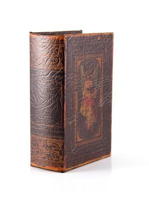 Шкатулка-фолиант Ангел-хранитель 17*12*6см Русские подарки. Цвет: коричневый, оранжевый