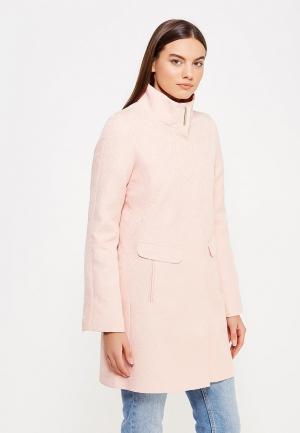 Пальто oodji. Цвет: розовый