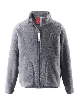 Куртка флисовая Reima. Цвет: серый
