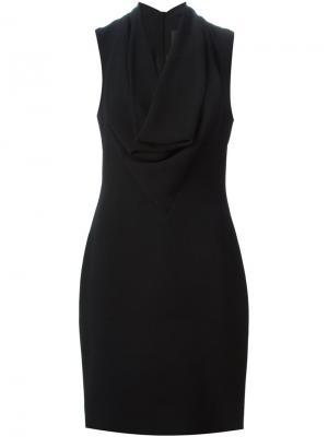 Короткое приталенное платье без рукавов Gareth Pugh. Цвет: чёрный