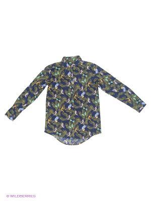 Блузка Nota Bene. Цвет: светло-голубой