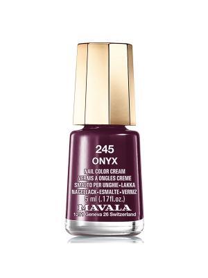 Лак для ногтей тон 245 Onyx Mavala. Цвет: темно-фиолетовый