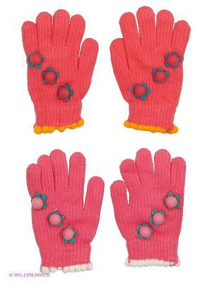 Перчатки FOMAS. Цвет: коралловый, розовый