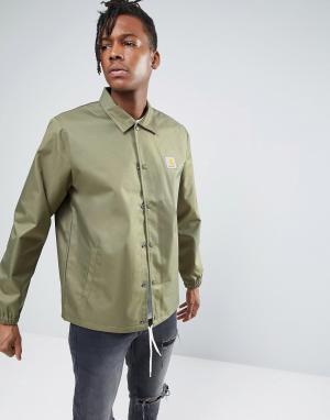 Carhartt Спортивная куртка WIP Watch. Цвет: зеленый