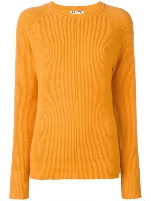 Джемпер с круглым вырезом Aalto. Цвет: жёлтый и оранжевый
