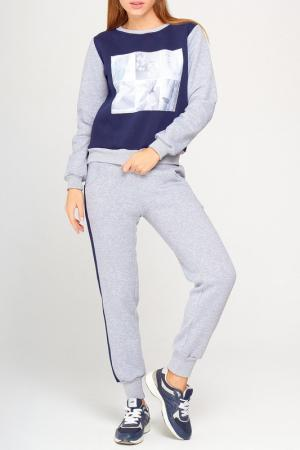 Костюм: кофта и брюки Majaly. Цвет: мультиколор