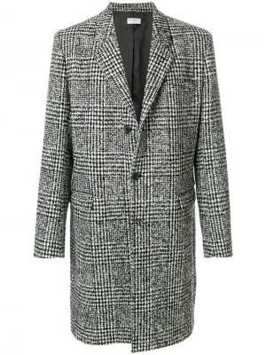 Однобортное пальто в клетку Éditions M.R. Цвет: чёрный