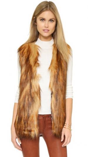 Жилет Play из искусственного меха Unreal Fur. Цвет: имбирный