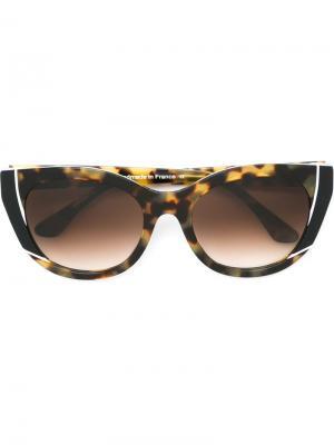 Солнцезащитные очки Nevermindy Thierry Lasry. Цвет: коричневый