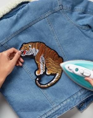 Orelia Термонашивка с вышивкой большого тигра. Цвет: мульти