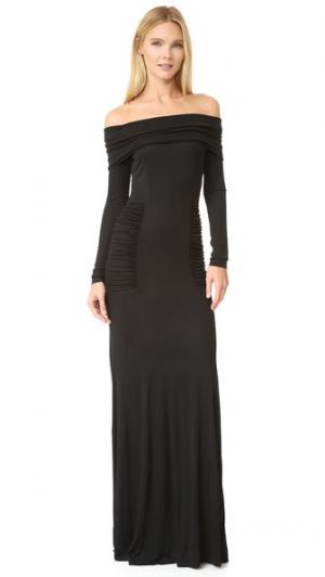 Вечернее платье с открытыми плечами Yigal Azrouel. Цвет: голубой