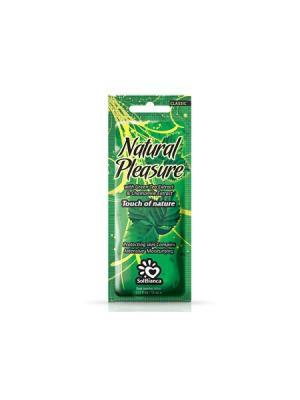 Крем для загара в солярии Natural Pleasure с экстрактом зеленого чая и ромашки. Solbianca. Цвет: бежевый