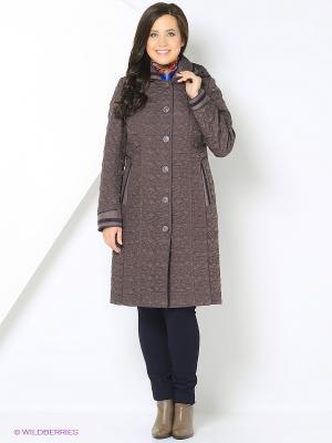 Пальто Brillare. Цвет: лиловый