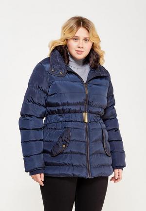 Куртка утепленная Emoi Size Plus. Цвет: синий