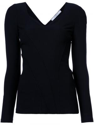 Топ с вырезом стиля сердце Givenchy. Цвет: чёрный