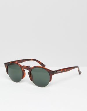 Mr Boho Круглые солнцезащитные очки в черепаховой оправе Mr. Born In Vint. Цвет: коричневый