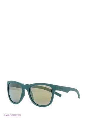 Солнцезащитные очки Polaroid. Цвет: бирюзовый, черный