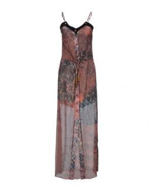 Длинное платье GUARAPO. Цвет: какао