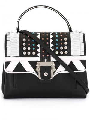 Декорированная сумка на плечо с бахромой Paula Cademartori. Цвет: чёрный