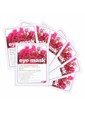 Набор тканевых масок для век Rose anti eyes bag eye mask, 7*15 гр. Beauty Host. Цвет: прозрачный