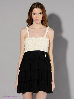 Сарафан Maison espin. Цвет: черный, молочный