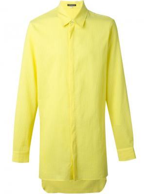 Длинная рубашка в полоску Ann Demeulemeester. Цвет: жёлтый и оранжевый