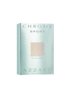 Туалетная вода Chrome Sport 50мл Azzaro. Цвет: светло-голубой