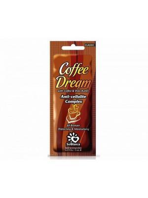 Крем для загара в солярии Coffee Dream  с маслом кофе, Ши и бронзаторами. Solbianca. Цвет: бежевый