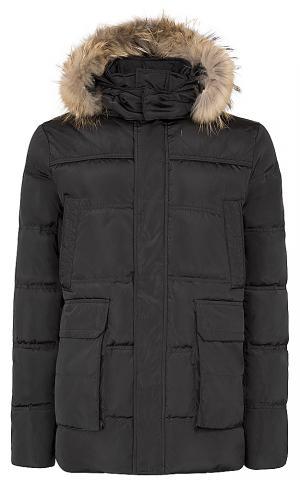Куртка на натуральном пуху с отделкой мехом енота Jorg weber