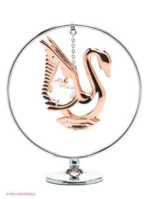 Миниатюра Лебедь CRYSTOCRAFT. Цвет: золотистый, серебристый