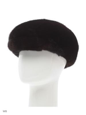Головной убор из меха ЧАСТЕЙ норки черного цвета. Выполнен в традиционном стиле. Mex-Style. Цвет: темно-коричневый