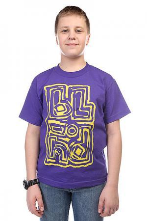 Футболка детский  Jumbled Purple Blind. Цвет: фиолетовый