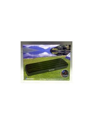 Надувной матрас -кров.дауни 76х191х22см с встр. ножНадувной насосом Intex. Цвет: темно-зеленый