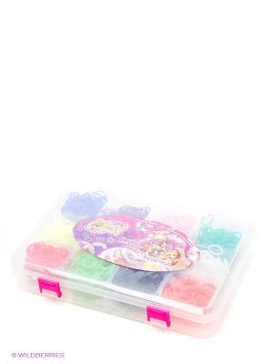 Фенечки набор из 12 цветов,1800 резинок 1toy Winx. Цвет: зеленый, белый, желтый, красный, оранжевый, розовый, фиолетовый