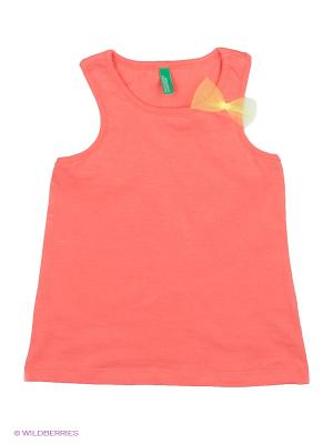 Майка United Colors of Benetton. Цвет: коралловый