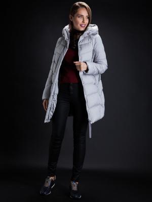 Пальто Clasna. Цвет: светло-серый
