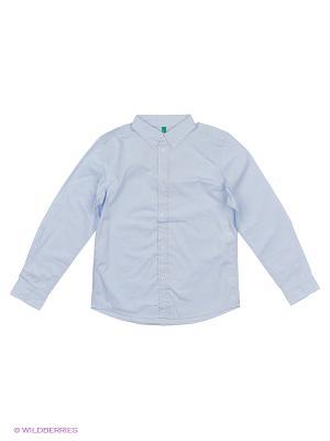 Рубашка United Colors of Benetton. Цвет: серо-голубой