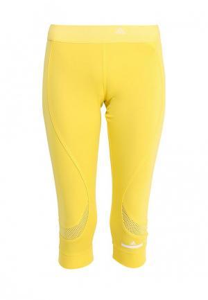 Капри adidas Performance. Цвет: желтый
