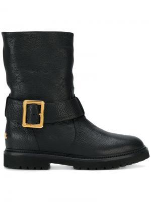 Байкерские ботинки Georgy с меховой подкладкой Bally. Цвет: чёрный