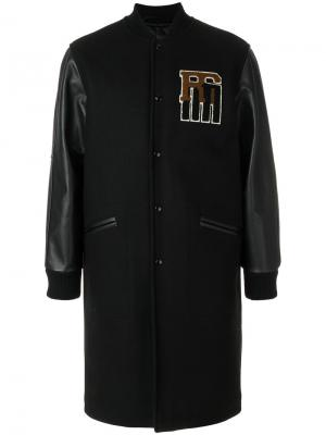 Куртка-бомбер  с удлиненными панелями Raf Simons. Цвет: чёрный