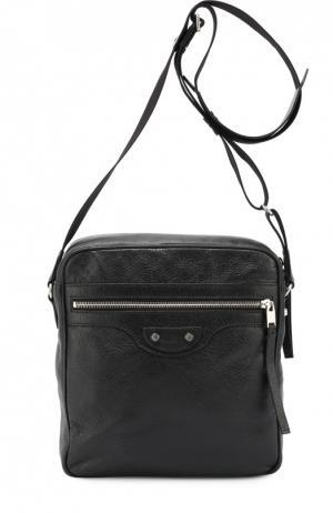 Кожаная сумка-планшет Reporter Balenciaga. Цвет: черный