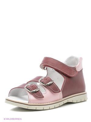 Босоножки Детский скороход. Цвет: розовый