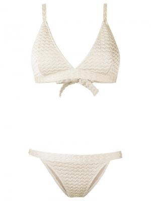 Knit bikini set Gig. Цвет: телесный