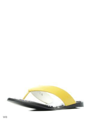 Пантолеты Vitacci. Цвет: желтый