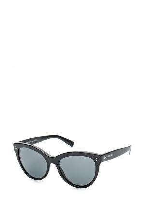 Очки солнцезащитные Valentino. Цвет: черный