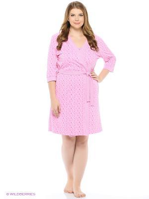 Комплект домашней одежды (халат, ночная сорочка) HomeLike. Цвет: розовый