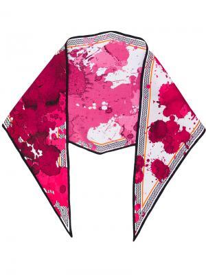 Шарф с брызгами краски Haider Ackermann. Цвет: розовый и фиолетовый