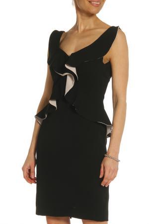 Эффектное платье без рукавов XS MILANO. Цвет: черный